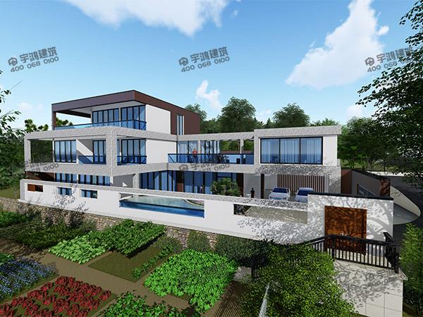 大面积三层现代教务别墅助手风格YH-X-3012_农村图纸uiv教务图片