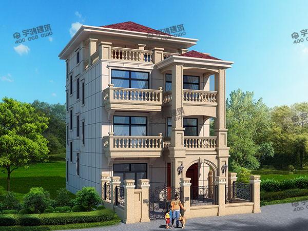 四层96平小农村会所图纸设计别墅YH-A-青岛户型设计图片