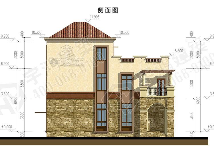 9x13西班牙风格农村别墅设计图纸 yh-a-3018