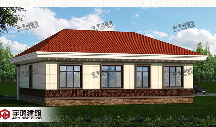 145平米农村一层自建房设计图 yh-a-1006
